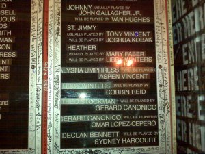 An example of crazy understudy nights at American Idiot. This was July 30, 2010, and the first time Van ever went on for Johnny.