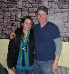 Joss and I. I am inwardly panicking here.