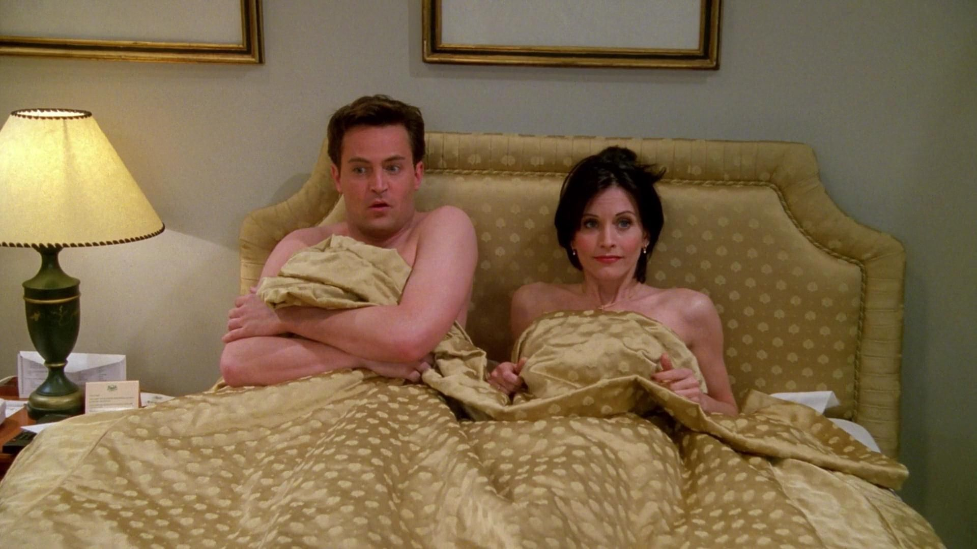 When did chandler and monica first hook up