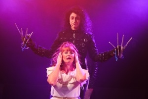 Scissorhands - Jordan Kai Burnett as Scissorhands - Carly Casey as Joyce - haircut