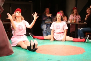 UMPO - LOTO - Natalie Masini as Dottie_Katie Powers as Mae - Stretching