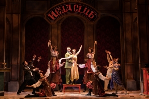 7 - Edward Staudenmayer (Vlad), Tari Kelly (Countless Lily) and the company of the National Tour of ANASTASIA. Photo by Matthew Murphy, MurphyMade.