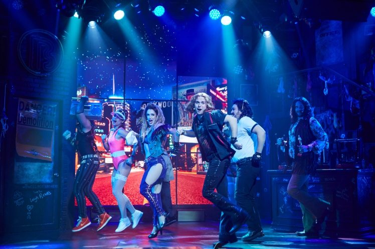 The cast dances in Rock of Ages Hollywood